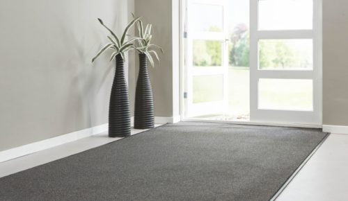 tapijttegels schoonloop zwart beige
