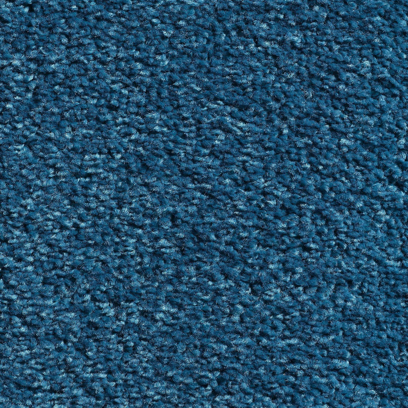 Hoogpolige tapijttegel Savona azuurblauw