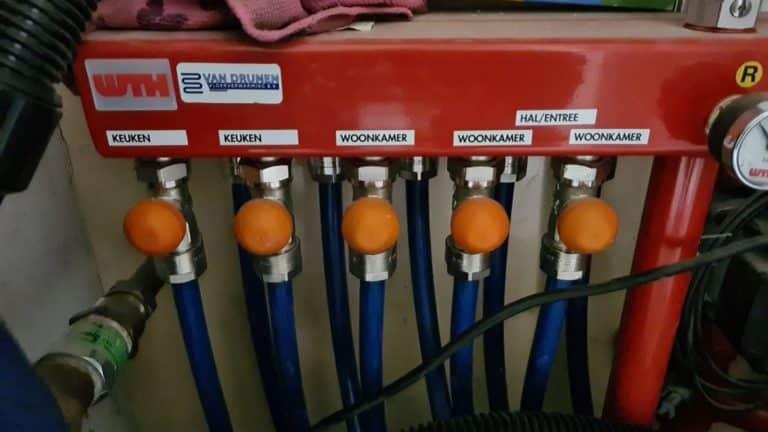 Verdeler vloerverwarming PVC